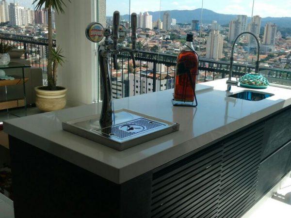 Projeto residencial torre para chopp Naja 2 Torneiras